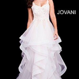 Jovani - 58113/Embellished Bodice Tulle Prom dress